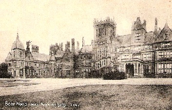 Bearwood Mansion from an old postcard, courtesy of Tony Harden