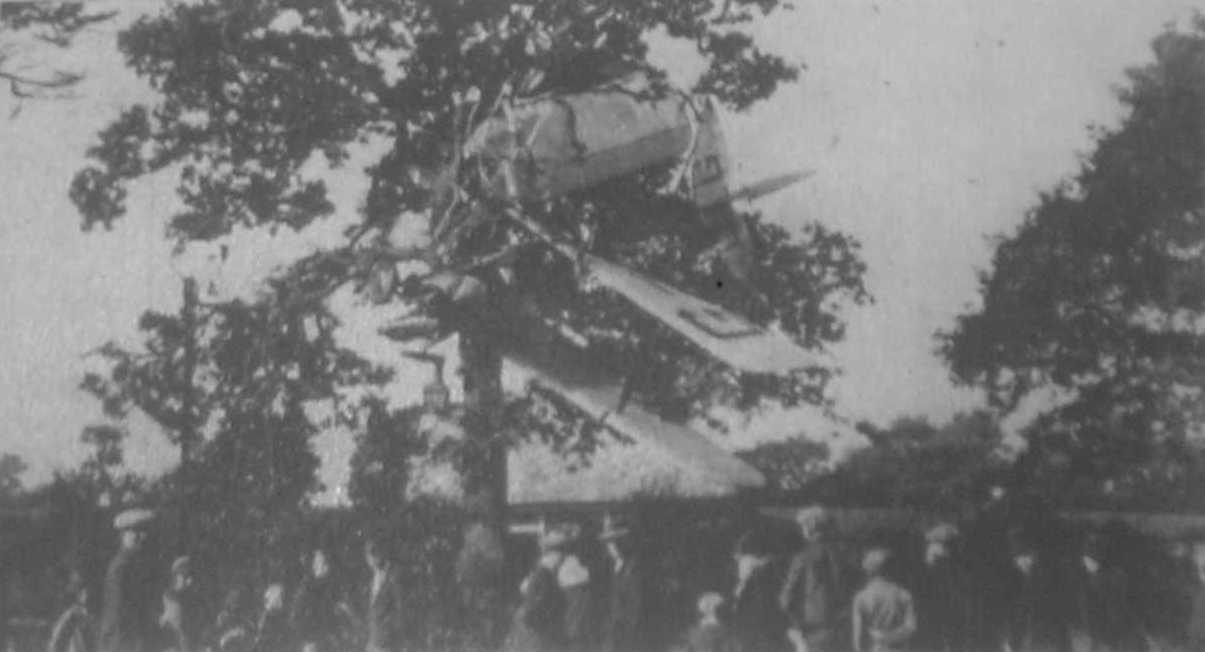 The aircraft wrapped around a tree near Broad Lane, Bracknell
