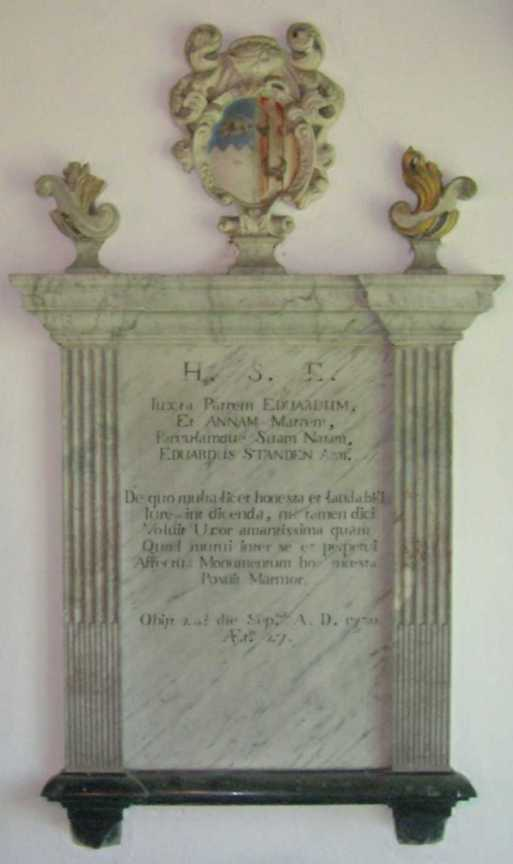 The Standen Plaque, removed from the Old Church in 1939