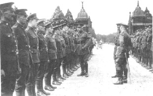 A military inspection at Bearwood during the Great War