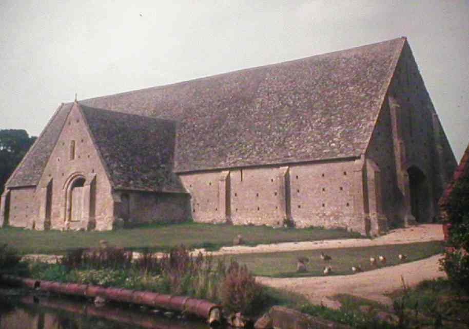 Great Coxwell Tithe Barn, site of a National Trust 'Acorn Camp' in 1975