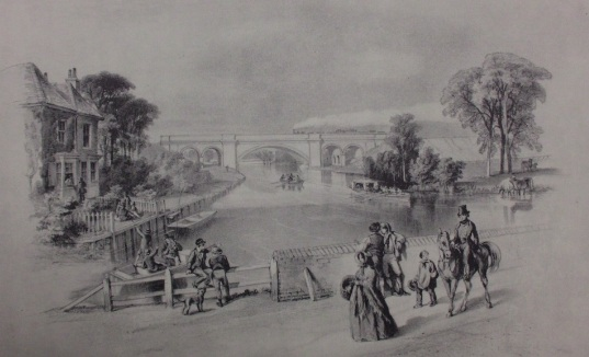 The Railway Bridge at Winnersh 1849